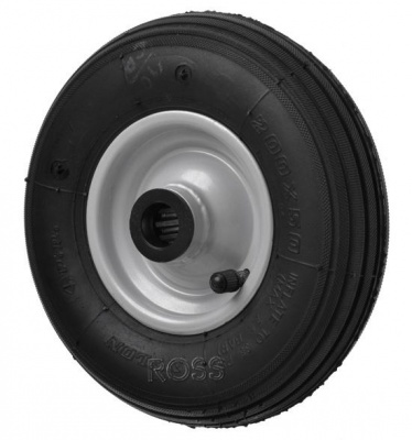 200mm  Pneumatic tyre, tube and wheel 20mm bore (not suitable for heavy or two seat gliders)