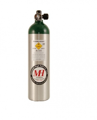 415L Aluminium oxygen bottle
