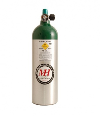 647L Aluminium oxygen bottle