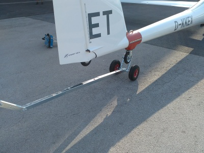 Tow Out Bar with Tail wheel plate, telescopic arm and tail boom jack