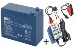 pbq 10Ah LiFePO4 Battery and Optimate 1 Duo Charger Bundle