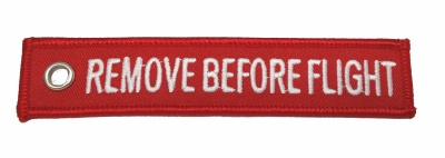 Remove Before Flight - Keyring
