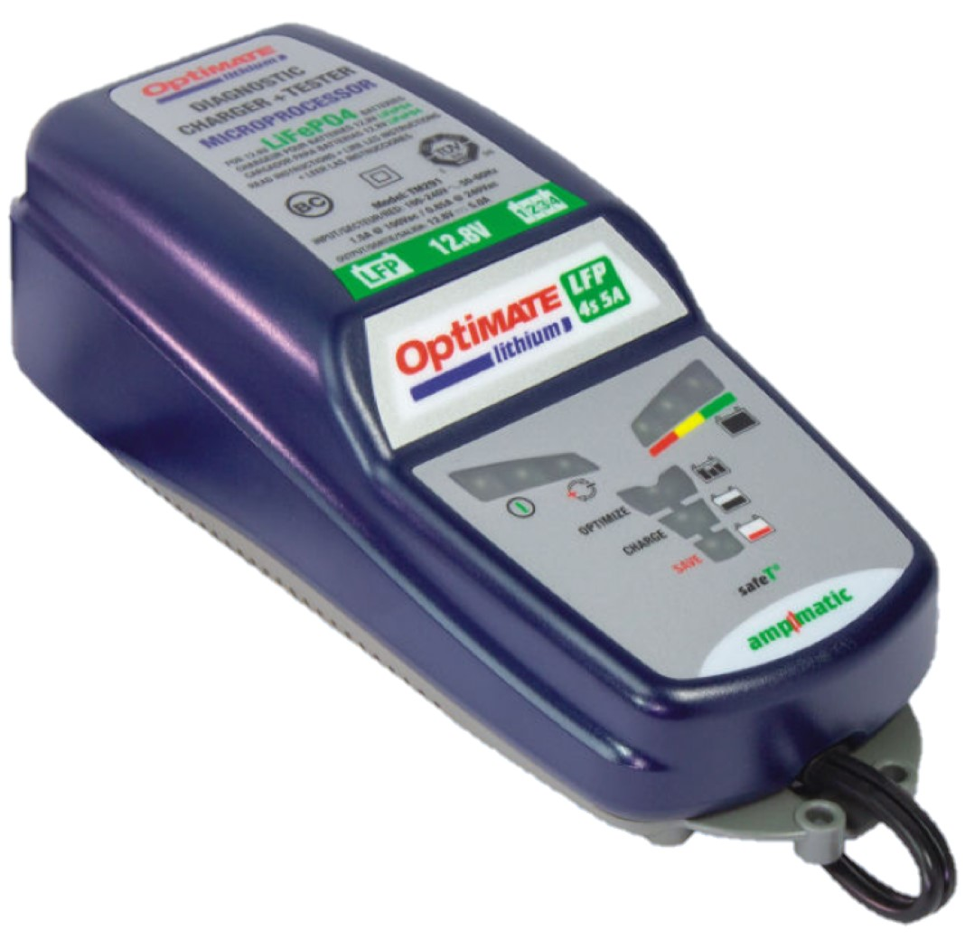 OptiMate Lithium 4s 5A 12V LiFePO4 Motorcycle Automatic Battery Charger Optimiser Maintainer