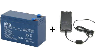 pbq 10Ah LiFePO4 Battery and Ansmann Charger Bundle
