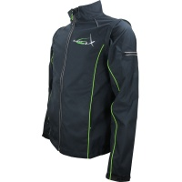 Softshell Removable Sleeves Jacket - Black&Green
