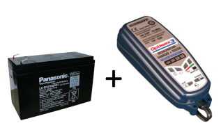 Panasonic 7AH Lead Acid Battery and Optimate 3 Charger