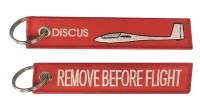 Discus / Remove Before Flight - Keyring