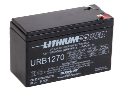 Ultralife LiFePO4 7.5Ah battery