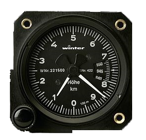 2nd hand Winter Metric Altimeter, 57mm